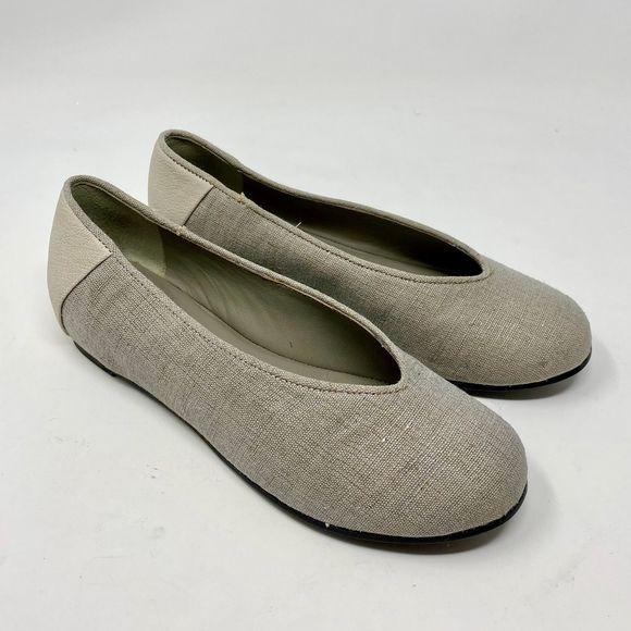 Eileen Fisher Patch 1 Woven Linen Ballet Flats